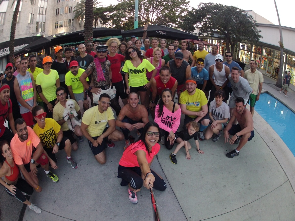 taken with GoPro Hero2 on a QuikPod Monopod  at South Beach Run Club